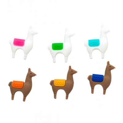 Set of 6 glass markers - Happy Markers Llama