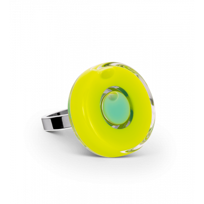 Glass ring - Duo Mini Light Green