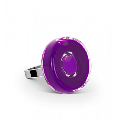 Glass ring - Duo Mini Dark purple