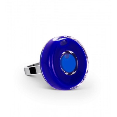 Glass ring - Duo Mini Dark Blue
