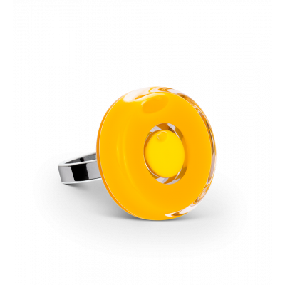 Glass ring - Duo Mini Yellow