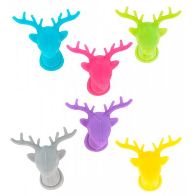 Set of 6 glass markers - Happy Markers Deer
