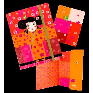 Kartonmappe A5 - Akademic Kimono
