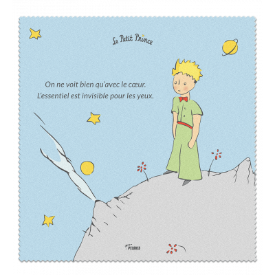 Microfibre cloth for glasses - Belle Vue Le Petit Prince Blue