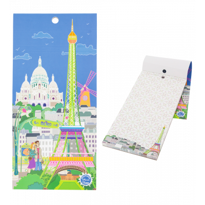 Magnetic memo block - Notebook Formalist Paris Bleu