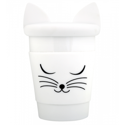 Mug and lid - Trophy Mug White cat