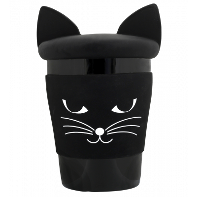 Mug and lid - Trophy Mug Black cat
