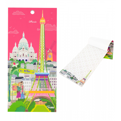 Magnetic memo block - Notebook Formalist Paris rose