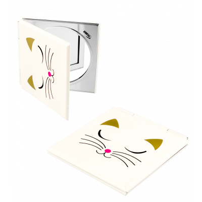Pocket mirror - Mimi 2 White Cat