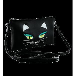 Pochette bandoulière - Brody Black Cat