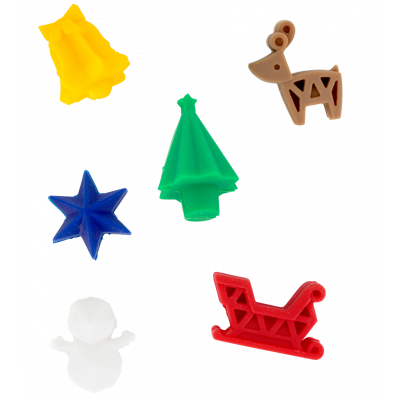 Set of 6 glass markers - Happy Markers Christmas tree