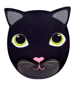 Mouse pad with wrist support Cat