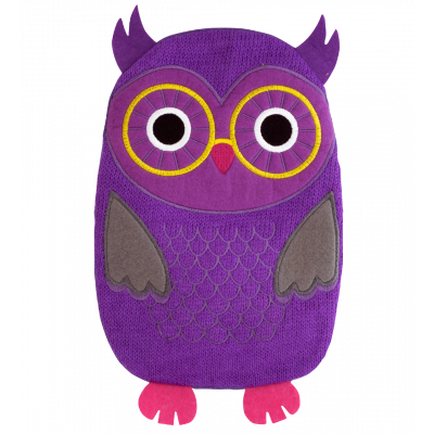 Hot water bottle - Hotly Purple Owl