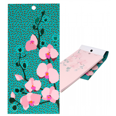 Magnetic memo block - Notebook Formalist Orchid Blue