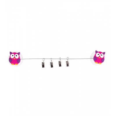 4 suction cup clips - Ani-clip Owl