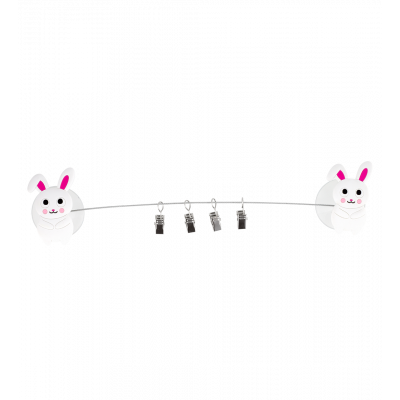 4 suction cup clips - Ani-clip Rabbit