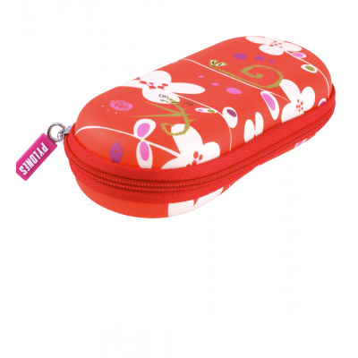 Hard glasses case - Voyage White Flower