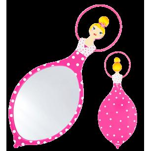 Specchio a mano - Glam Glam Rosa