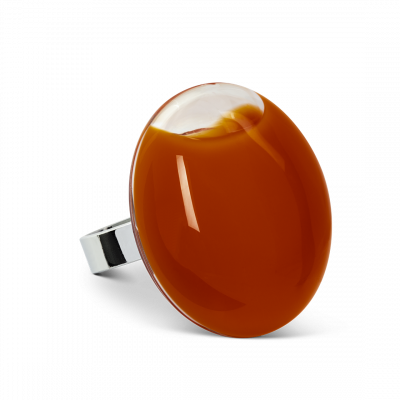 Galet Giga Milk - Glass ring Rust