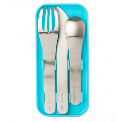 Nomades - Couverts pour bento Turquoise