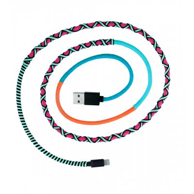 iPhone Cable - Salsa Pink / Blue