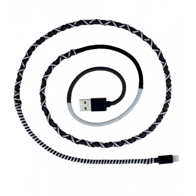 iPhone Cable - Salsa Grey / Black