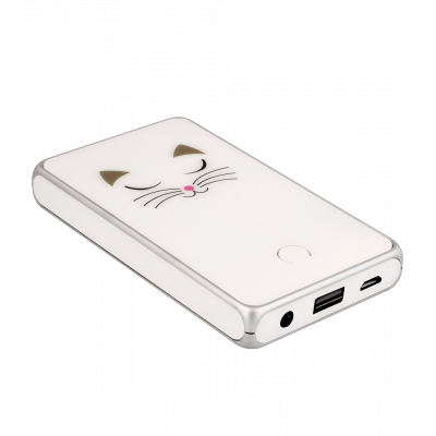Tragbares Ladegerät 5000mAh - Get The Power 2 White Cat