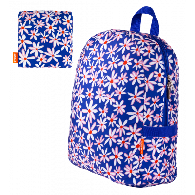 Foldable backpack - Pocket Bag Fleurettes
