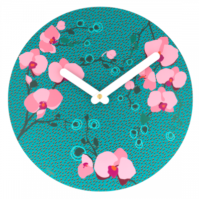 Clock - Happy Time Orchid Blue