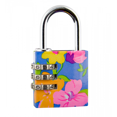 Flower Lock - Combination lock Blue