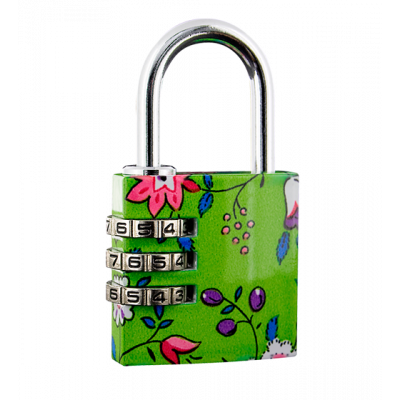 Flower Lock - Combination lock Green