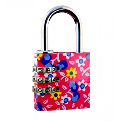 Flower Lock - Combination lock Red