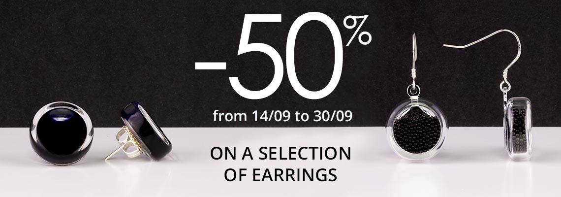 -50% on a selection of earrings